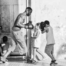 Strassenboxen, Cienfuegos, Cuba