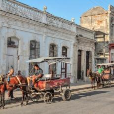 Taxi zur Arbeit, Cienfuegos, Cuba