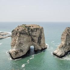 Beirut, Pigeons Rocks on Raouche