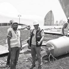 Baku, Workers at Heydar Aliyev Center