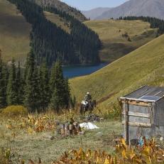 Fahrt zum Kol Kogur See, Kirgistan