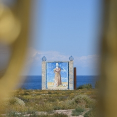 Manas Denkmal bei Kadzhi-Saj, Issyk-Kul, Kirgistan